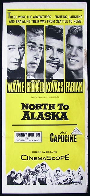 NORTH TO ALASKA John Wayne 1960sr daybill movie poster