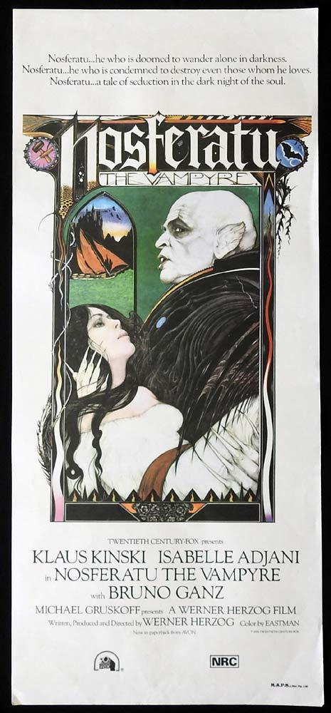 NOSFERATU Original daybill Movie Poster Vampire HORROR Klaus Kinski
