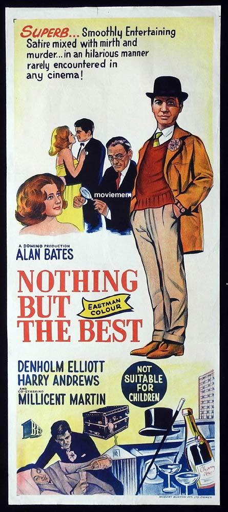 NOTHING BUT THE BEST Original Daybill Movie Poster Alan Bates Denholm Elliott