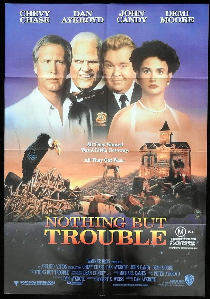 NOTHING BUT TROUBLE Original One sheet Movie Poster Chevy Chase John Candy