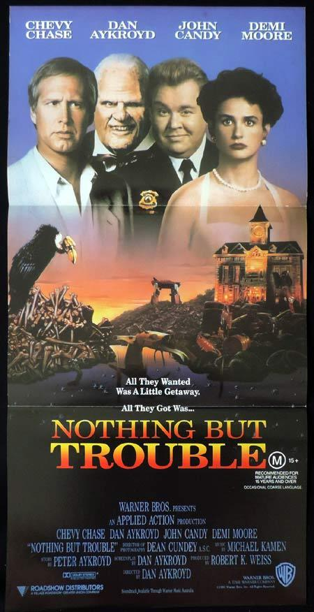 NOTHING BUT TROUBLE Original Daybill Movie Poster Chevy Chase John Candy