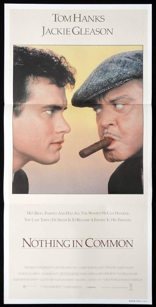 NOTHING IN COMMON Original Daybill Movie poster Tom Hanks Jackie Gleason