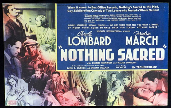 NOTHING SACRED 1938 Frederic March Carole Lombard VINTAGE Original Movie Trade Ad