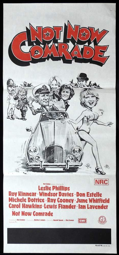 NOT NOW COMRADE Original Daybill Movie Poster Leslie Phillips Moira Lister Julie Ege Jack Hulbert