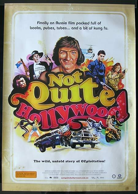 NOT QUITE HOLLYWOOD Movie Poster 2008 Mark Hartley Australian one sheet