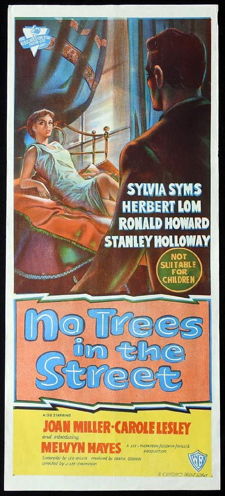NO TREES IN THE STREET Original Daybill Movie Poster Sylvia Syms Herbert Lom