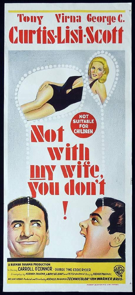 NOT WITH MY WIFE YOU DONT Original Daybill Movie Poster Tony Curtis Virna Lisi
