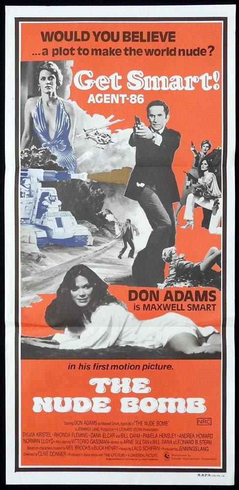 THE NUDE BOMB daybill Movie poster GET SMART Don Adams