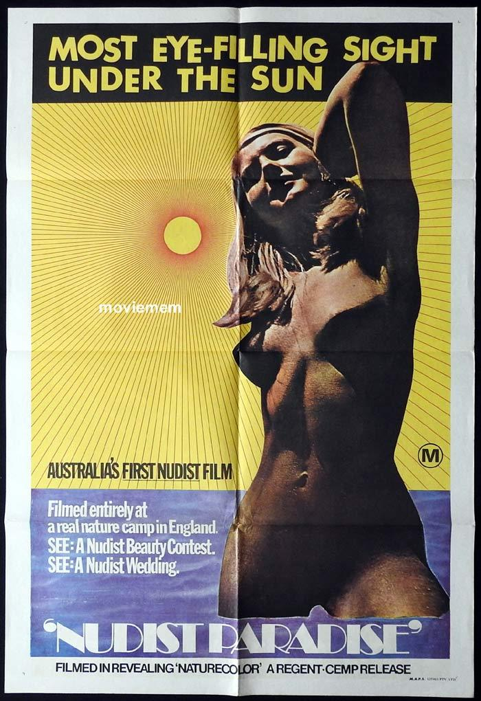 NUDIST PARADISE Original One sheet Movie poster Australia's First Nudist Film