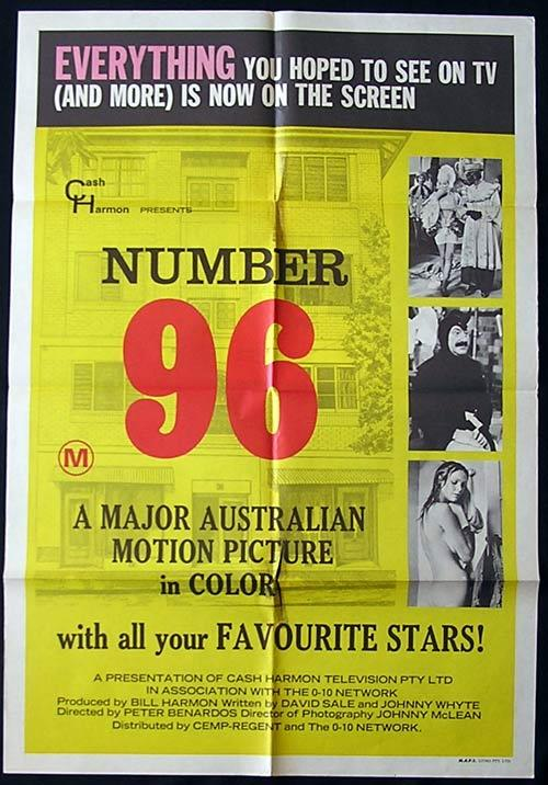 NUMBER 96 One sheet Movie poster Johnny Lockwood Australian TV