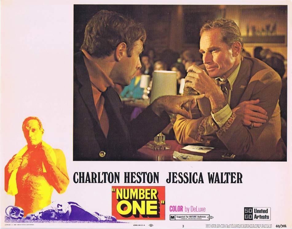 NUMBER ONE Lobby Card 3 Charlton Heston Jessica Walter Bruce Dern