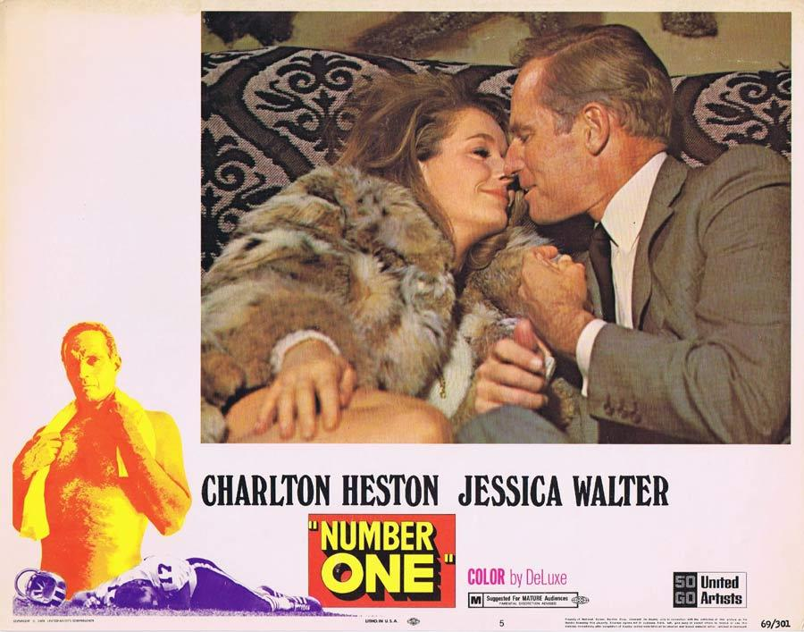 NUMBER ONE Lobby Card 5 Charlton Heston Jessica Walter