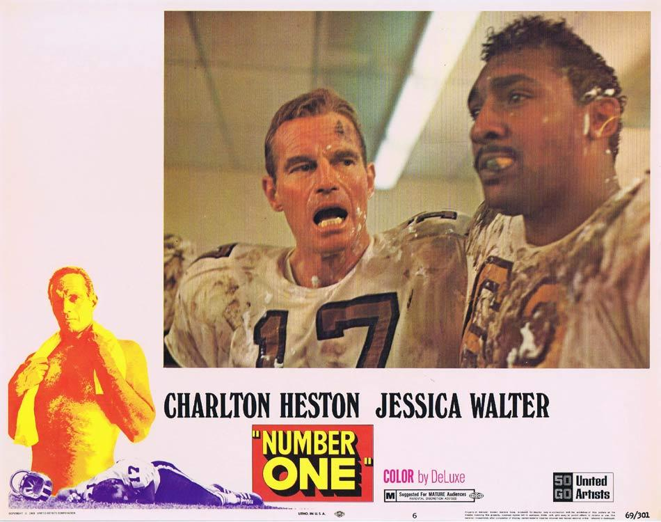 NUMBER ONE Lobby Card 6 Charlton Heston Jessica Walter Bruce Dern