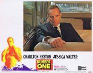 NUMBER ONE Lobby Card 8 Charlton Heston Jessica Walter Bruce Dern