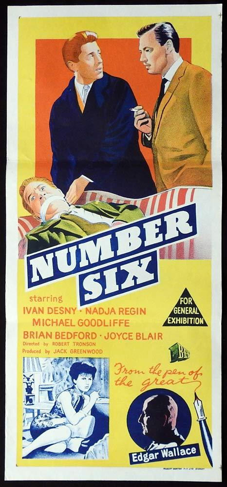 NUMBER SIX Original Daybill Movie poster Ivan Desny Nadja Regin