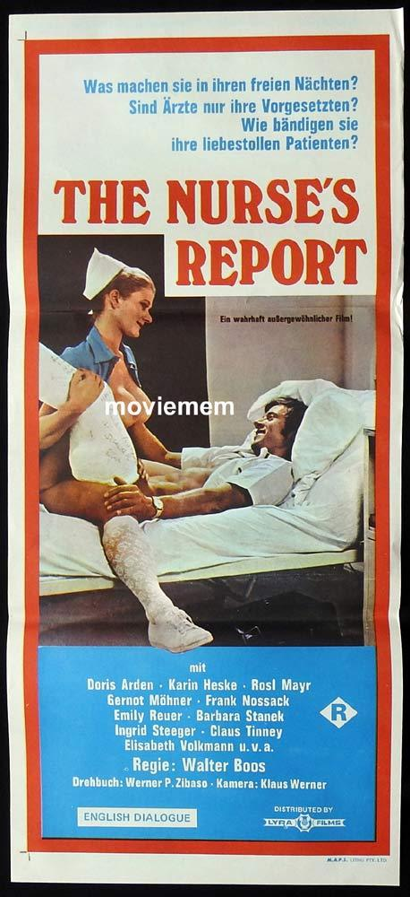 THE NURSE'S REPORT Original Daybill Movie poster Sexploitation Doris Arden