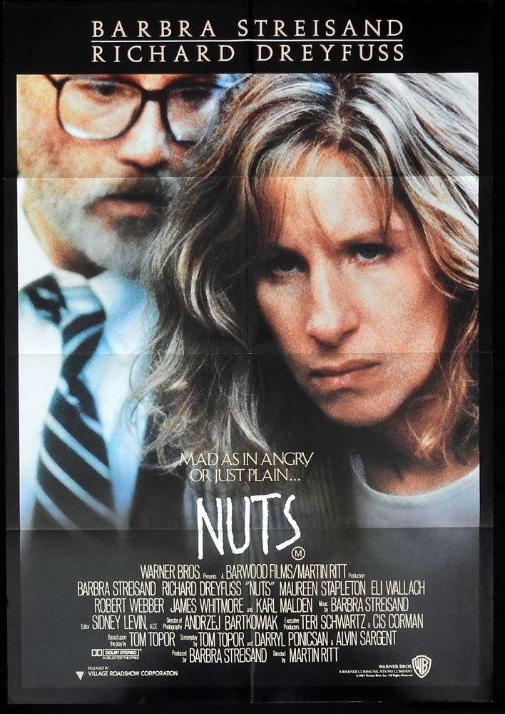 NUTS Original One sheet Movie poster Barbra Streisand Richard Dreyfuss
