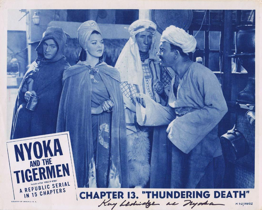 NYOKA AND THE TIGER MEN Original Lobby Card KAY ALDRIDGE Autograph 1952r