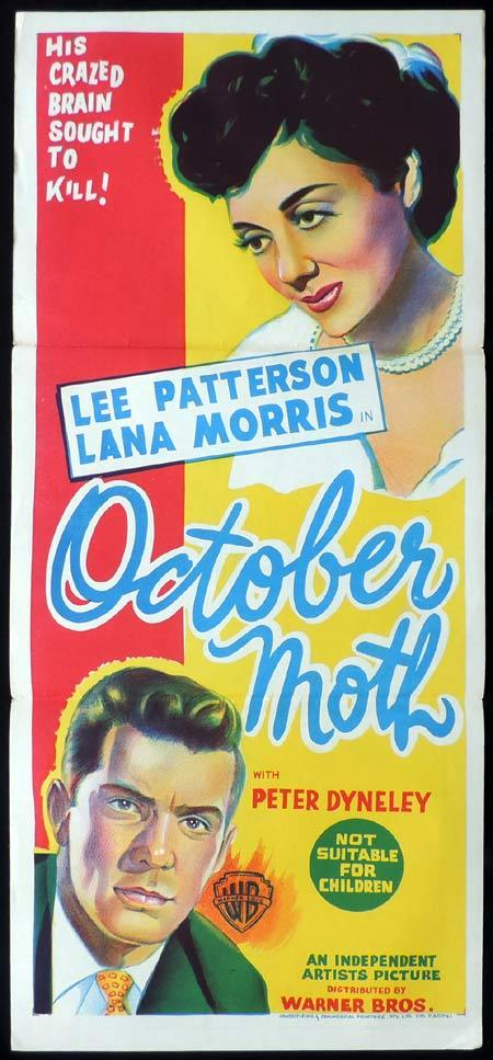 OCTOBER MOTH Original Daybill Movie Poster Lee Patterson British Film