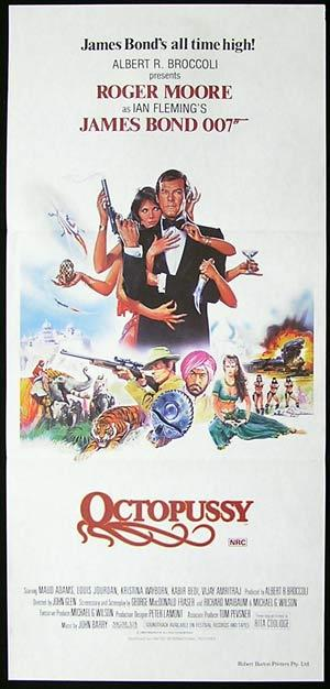 OCTOPUSSY Original Daybill Movie poster Roger Moore James Bond