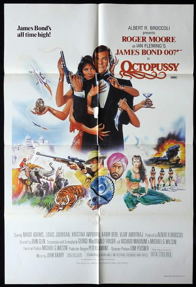 OCTOPUSSY Original Australian One sheet Movie poster James Bond