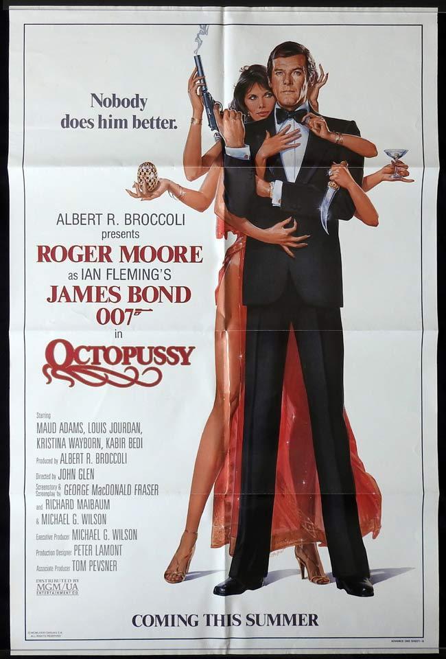 OCTOPUSSY Original US advance One sheet Movie poster James Bond