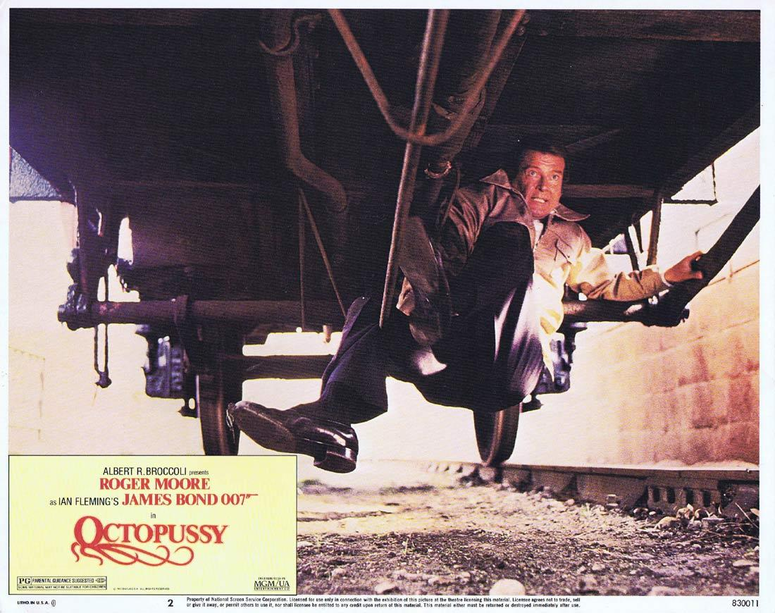 OCTOPUSSY Original US Lobby Card 2 Roger Moore James Bond 1983