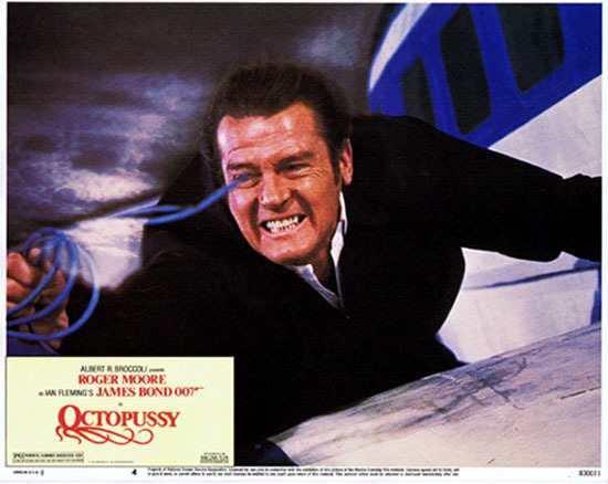 OCTOPUSSY Original US Lobby Card 4 Roger Moore James Bond 1983