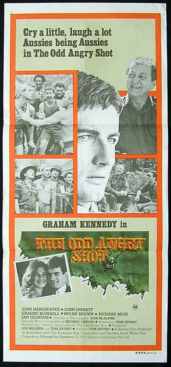 THE ODD ANGRY SHOT Original Daybill Movie poster Graham Kennedy
