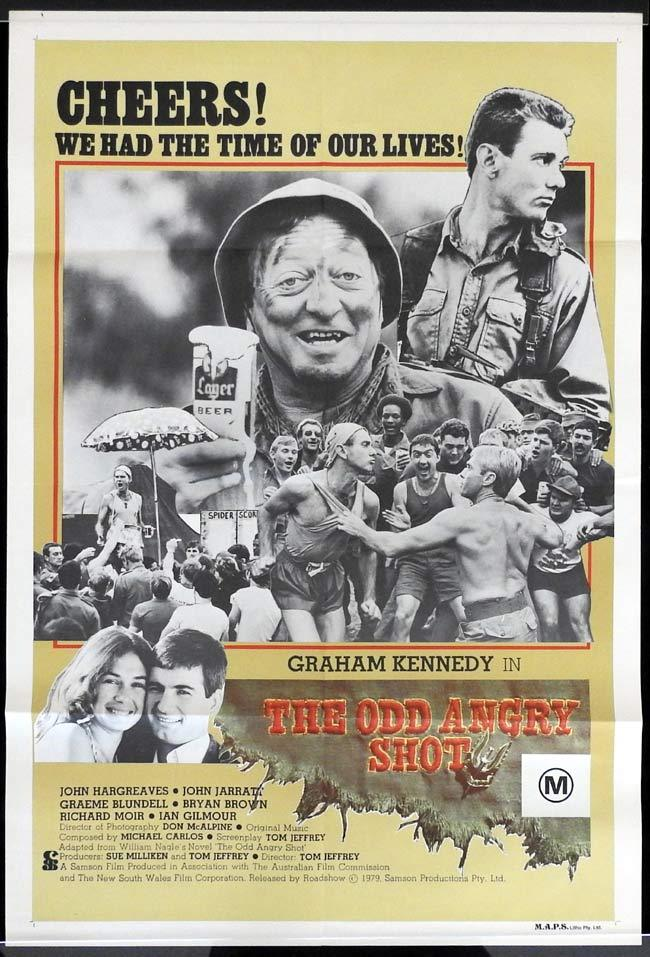 "THE ODD ANGRY SHOT One sheet Movie poster Graham Kennedy Bryan Brown ""A"""