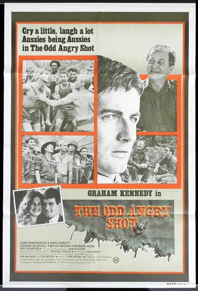 "THE ODD ANGRY SHOT One sheet Movie poster Graham Kennedy Bryan Brown ""B"""