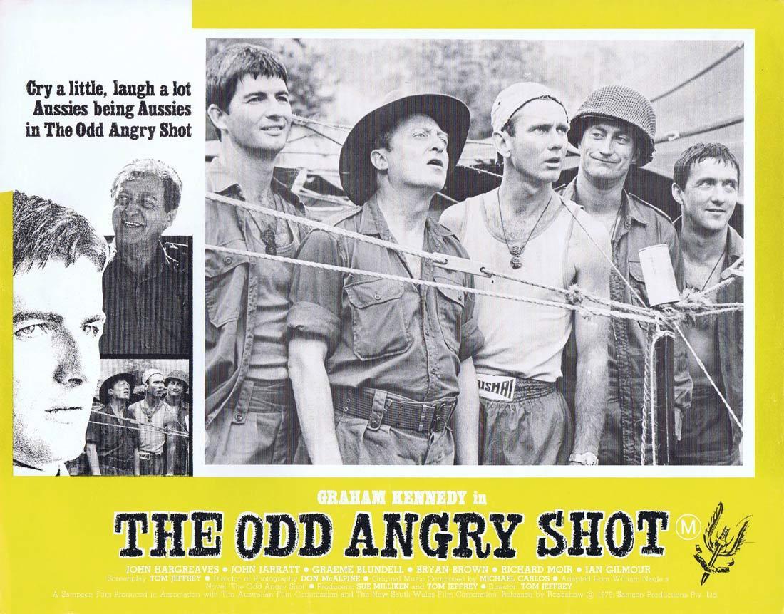 THE ODD ANGRY SHOT Australian Lobby Card 7 Graham Kennedy VIETNAM