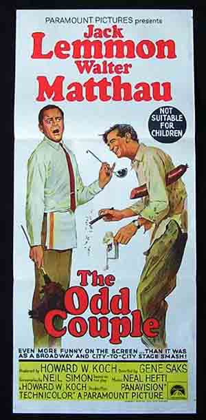 THE ODD COUPLE Original Daybill Movie Poster Jack Lemmon Walter Matthau