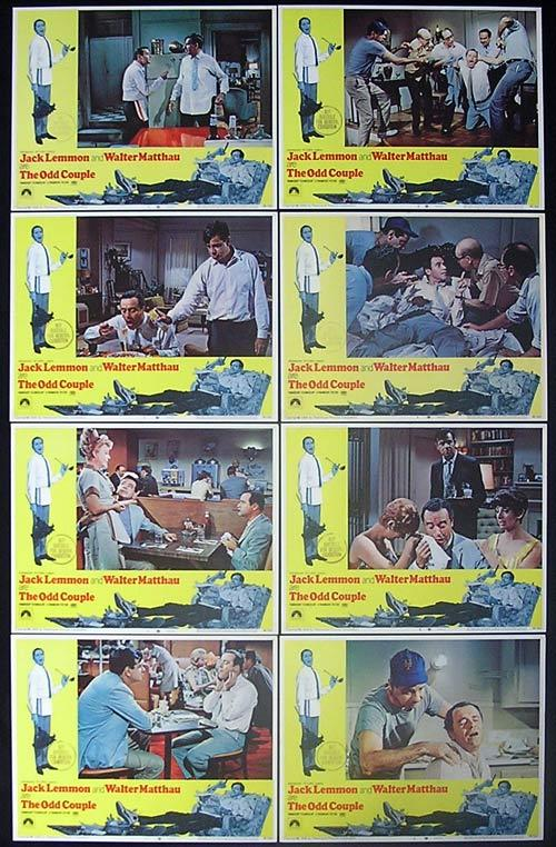 THE ODD COUPLE 1968 Jack Lemmon Walter Matthau Lobby card set