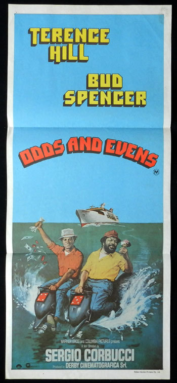 ODDS AND EVENS Australian Daybill Movie poster Terence Hill Bud Spencer