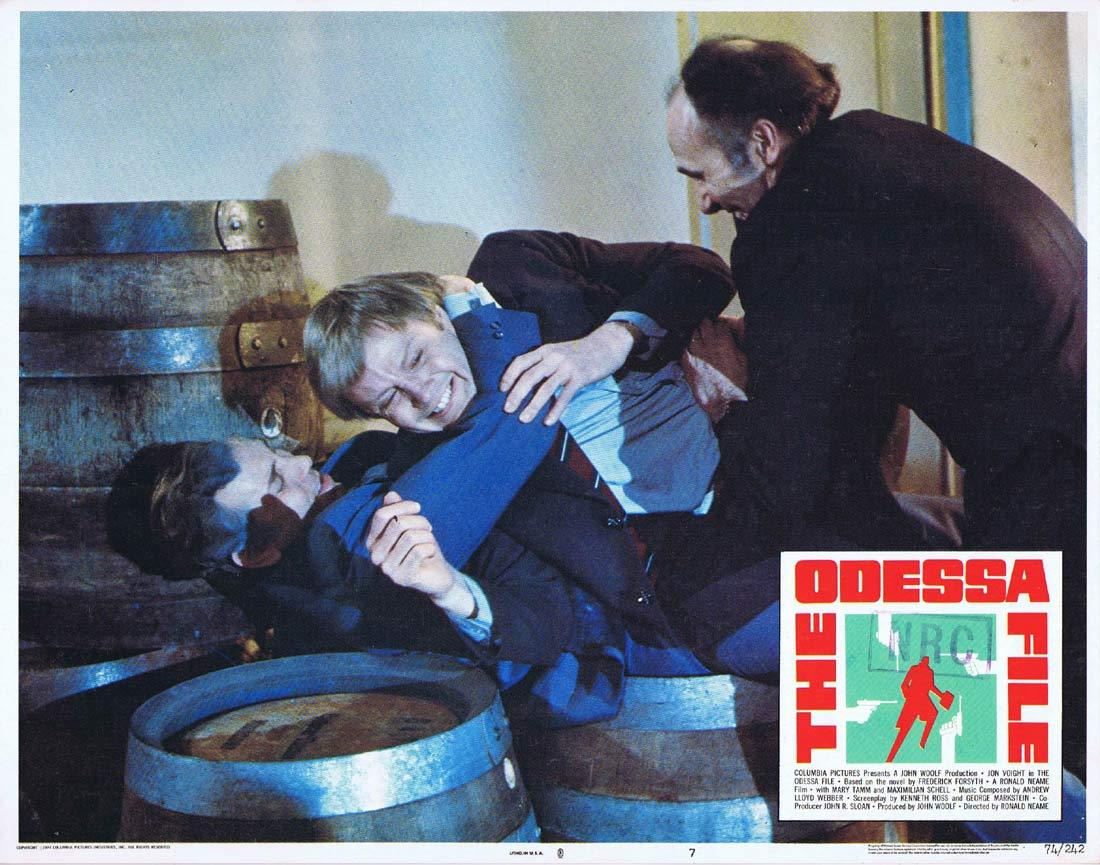 THE ODESSA FILE Original Lobby Card 7 Jon Voight Maximilian Schell