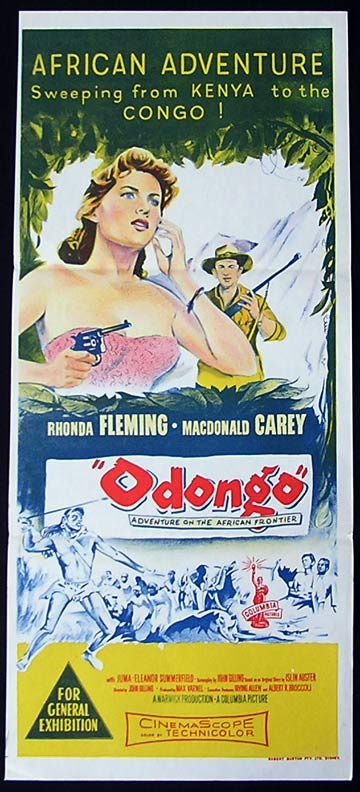 ODONGO Daybill Movie Poster Rhonda Fleming