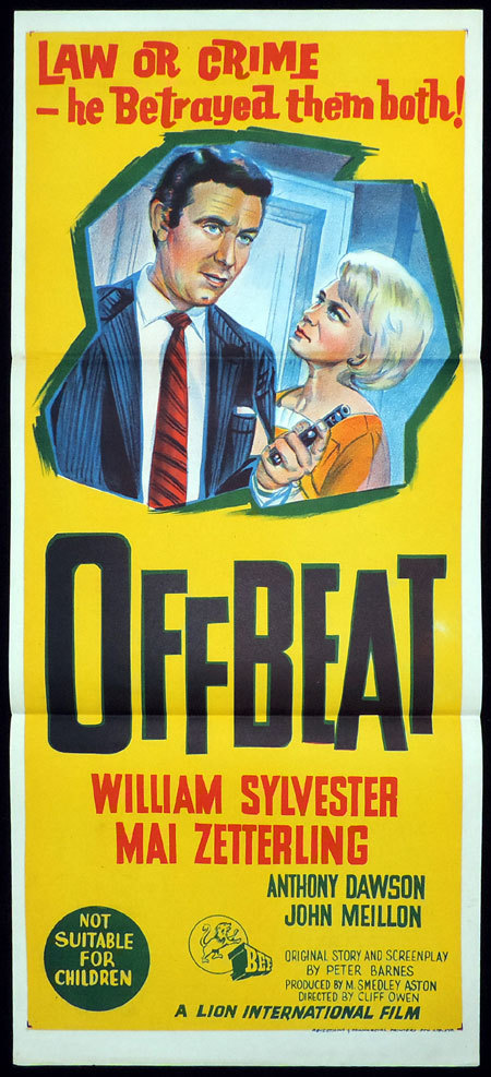 OFFBEAT daybill Movie poster John Meillon William Sylvester