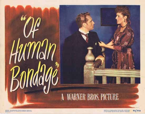 OF HUMAN BONDAGE 1946 Paul Henreid Eleanor Parker ORIGINAL US Lobby card