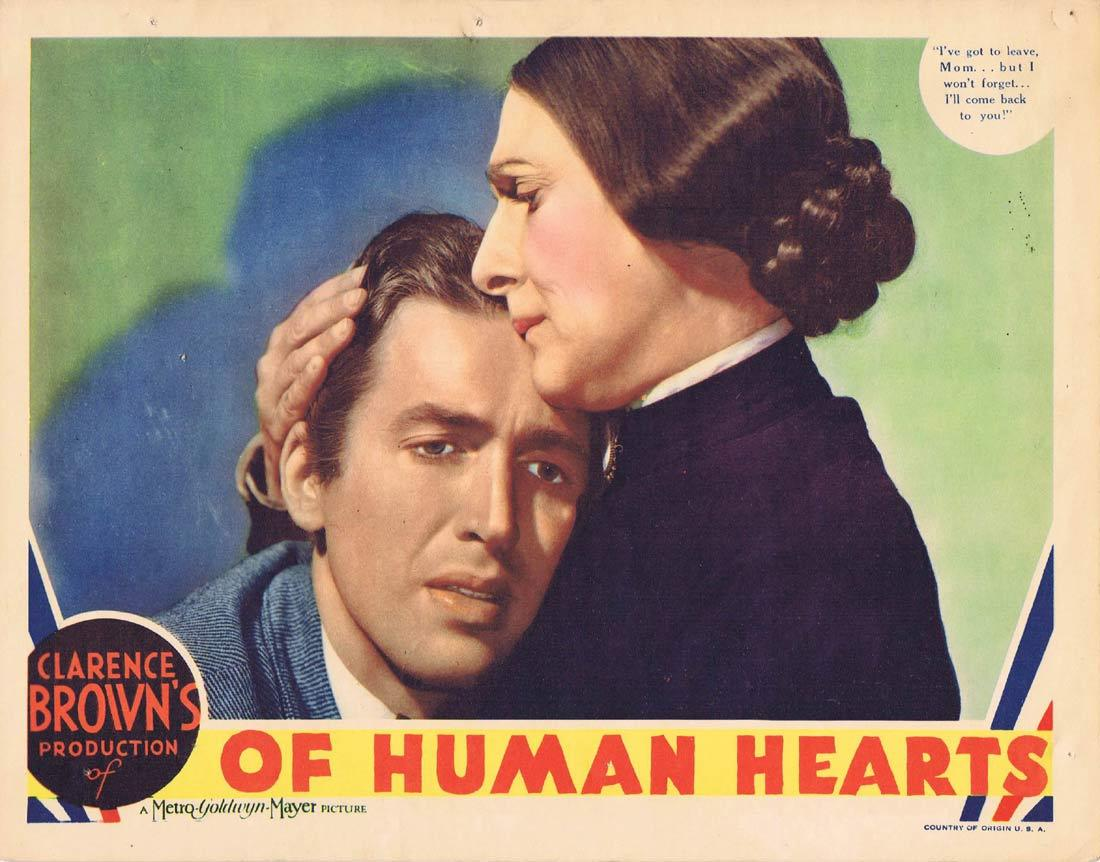 OF HUMAN HEARTS Lobby Card Walter Huston James Stewart Beulah BondI 1938