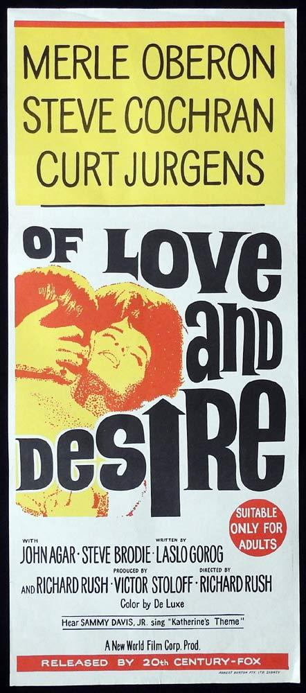 OF LOVE AND DESIRE Original Daybill Movie Poster Merle Oberon