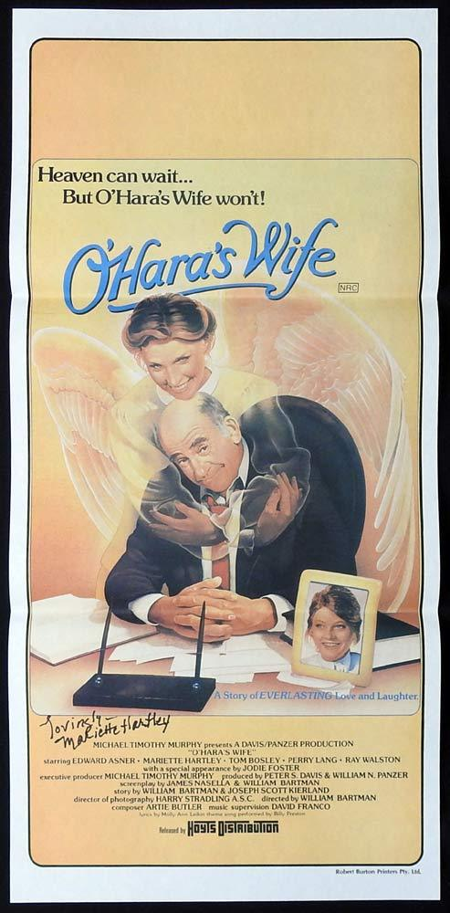 O'HARA'S WIFE Original Daybill Movie Poster MARIETTE HARTLEY Autograph