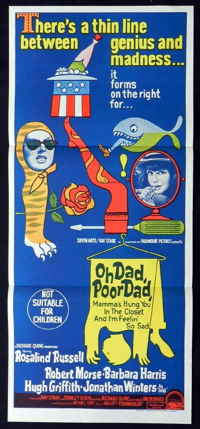 OH DAD POOR DAD Original Daybill Movie Poster William Holden Lilli Palmer