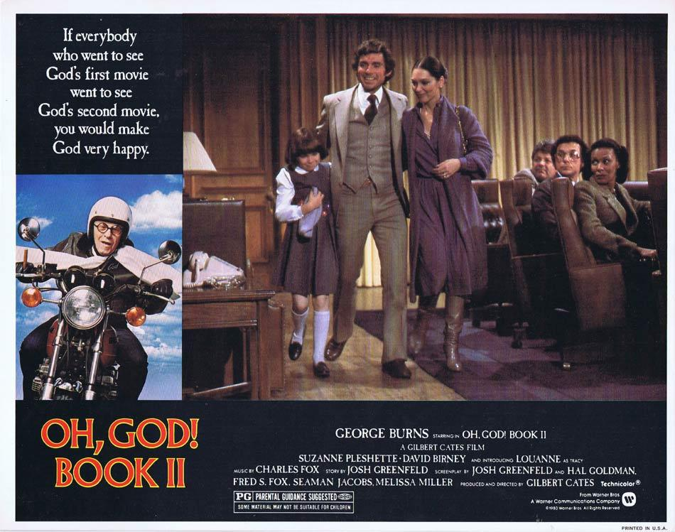 OH GOD BOOK II Lobby Card 3 George Burns Suzanne Pleshette David Birney