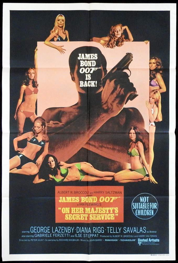 ON HER MAJESTY'S SECRET SERVICE One sheet Movie poster OHMSS James Bond