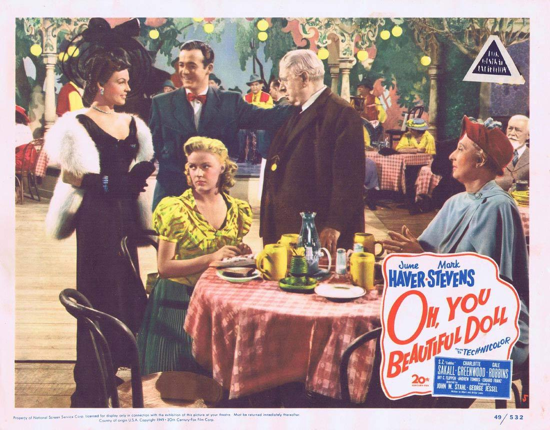 OH YOU BEAUTIFUL DOLL Lobby Card 5 Mark Stevens June Haver S.Z. Sakall