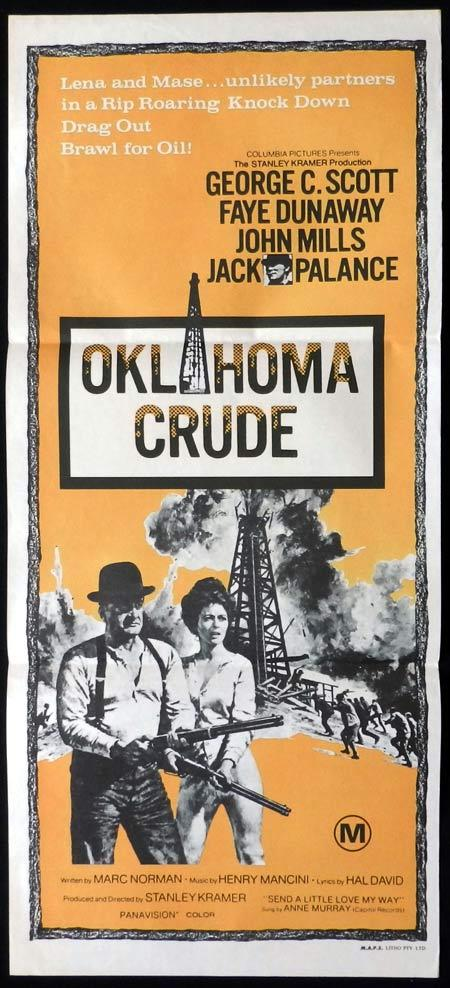 OKLAHOMA CRUDE Original Daybill Movie Poster George C. Scott Faye Dunaway John Mills