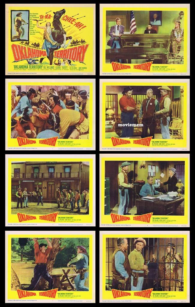 OKLAHOMA TERRITORY Lobby Card set Bill Williams Gloria Talbot Cowboys and Indians