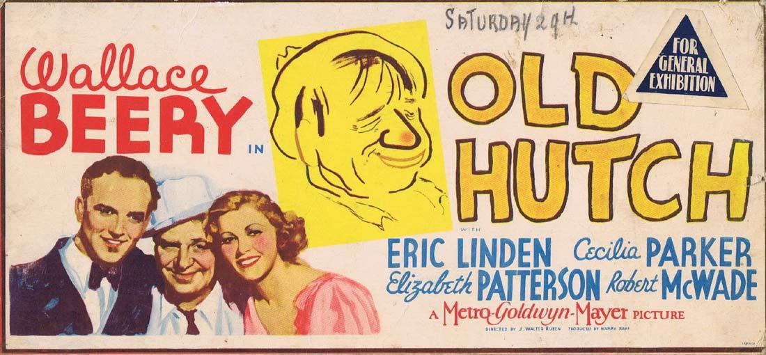 OLD HUTCH Original Mini Lobby Card Wallace Beery 1936