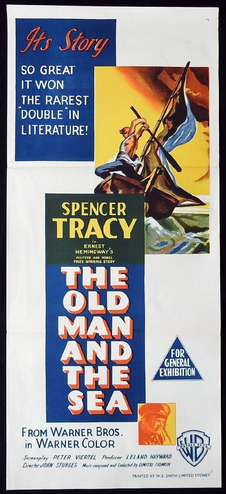 THE OLD MAN AND THE SEA Original Daybill Movie Poster Spencer Tracy